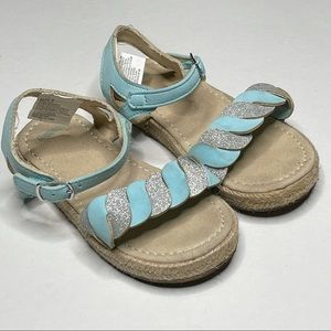 Gymboree Summer Sandal Glitter Hook & Loop Closure